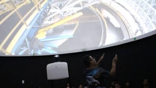 Novo projetor do planetário
